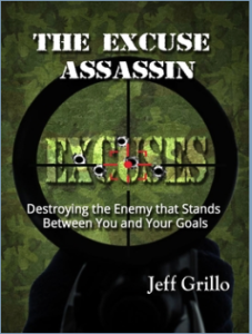 "Cover image ""The Excuse Assassin"" by Jeff Grillo"